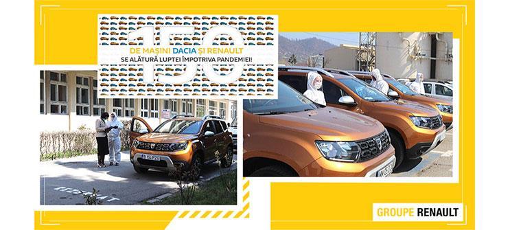 Coronavirus EV: Renault donează 50 de vehicule, service-urile rămân deschise