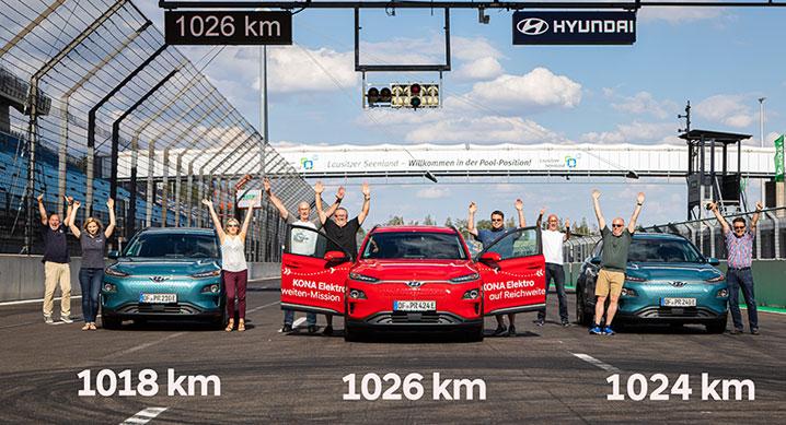 Hyundai Kona electric - record de autonomie