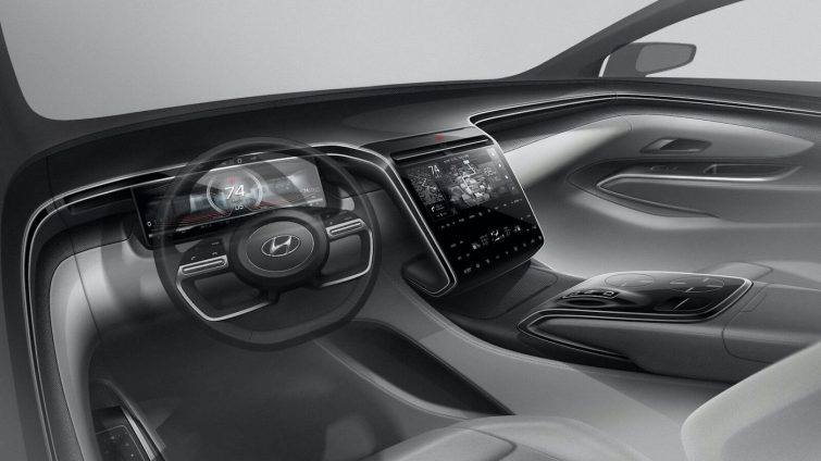 Noul Hyundai Tucson - interior sketch