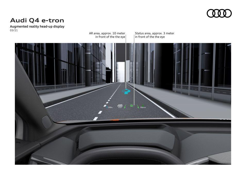 head-up display Audi Q4 e-tron