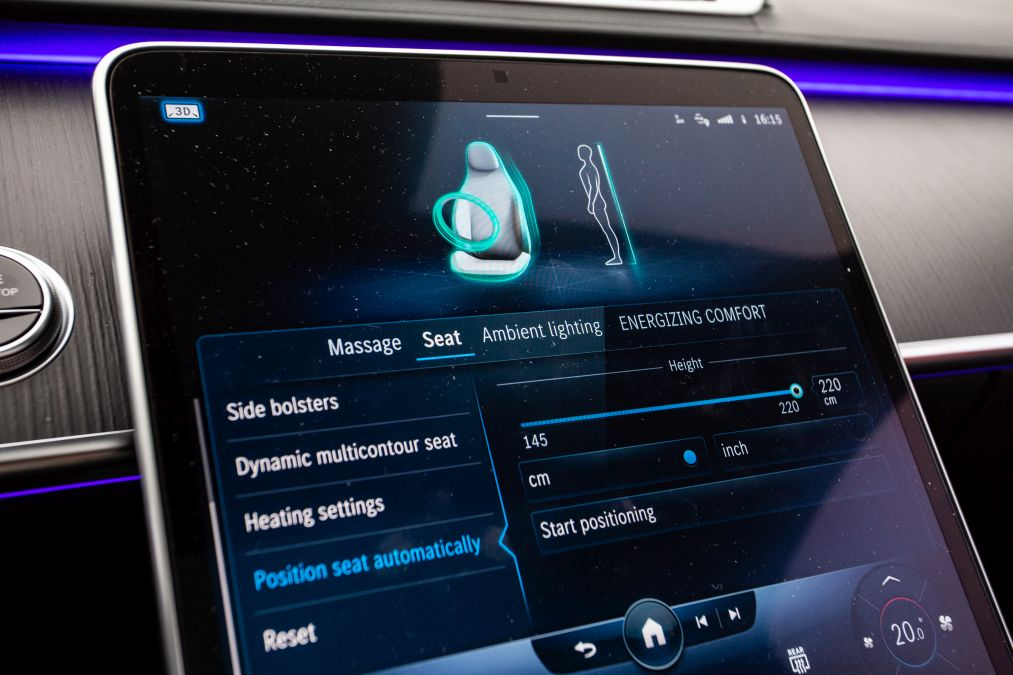 sistem multimedia Mercedes S-Class 2021