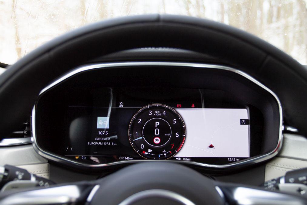 indicatoare bord jaguar F-Pace