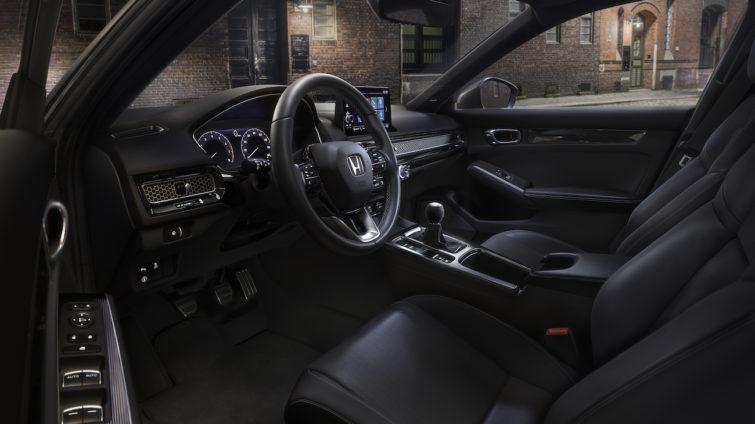 Honda Civic 2022 - interior piața americană