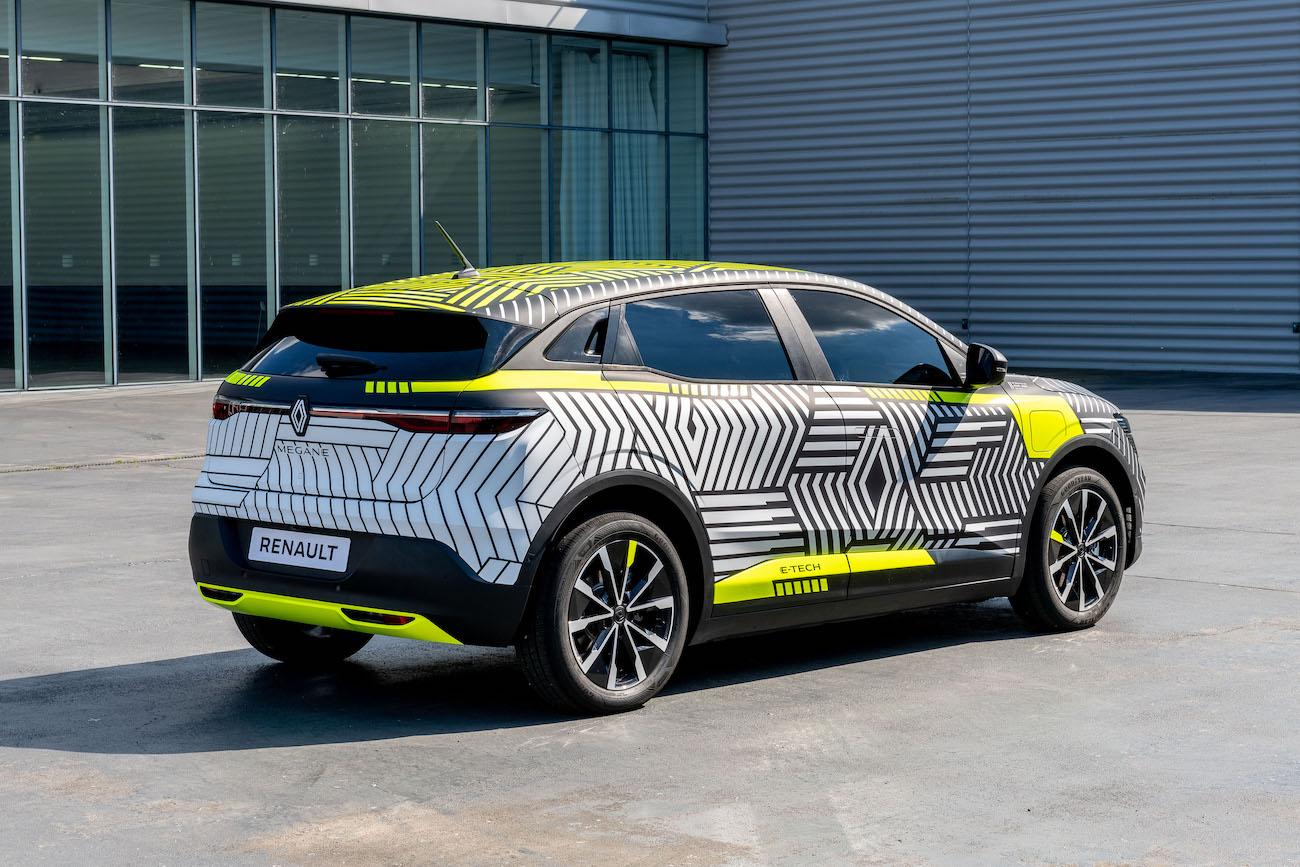 Renault Megane E-Tech Electric preproducție