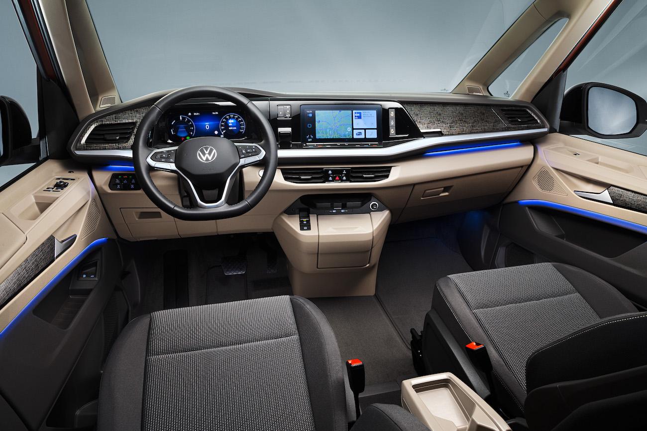 interior noul Volkswagen Multivan