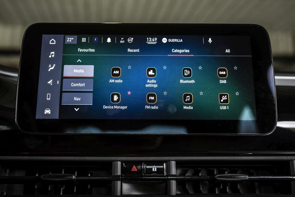 sistem multimedia Fiat 500e