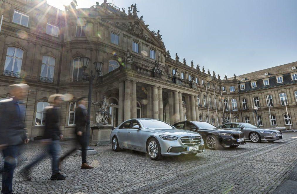 test comparativ Mercedes S 500 4matic, Audi A8 60 TFSIe, BMW 745e
