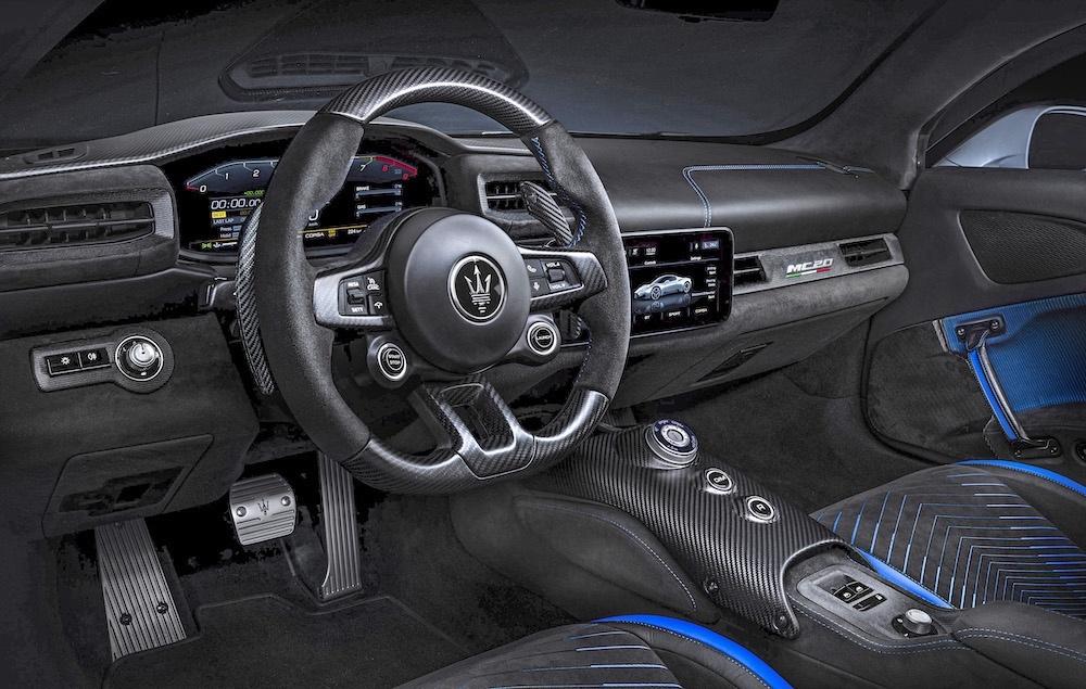 Test Maserati MC20 - interior