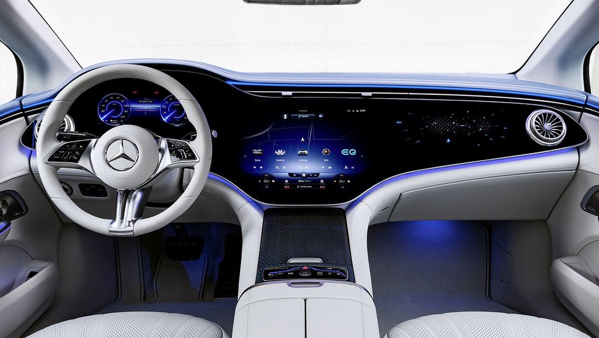 plansa de bord Mercedes EQE